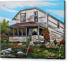 This Old House 2 Acrylic Print by Marilyn  McNish
