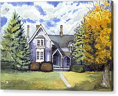 Acrylic Print featuring the painting This Old House by Katherine Miller
