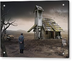 Acrylic Print featuring the mixed media This Old House by Marvin Blaine