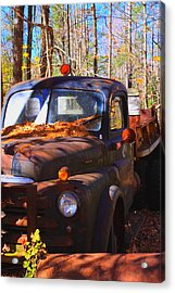 This Old Truck Acrylic Print by Tom Johnson