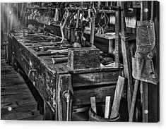 This Old Workshop Bw Acrylic Print by Susan Candelario