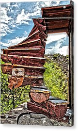 This Way Up Acrylic Print by Katherine Halstead