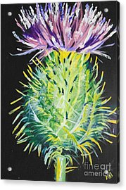 Acrylic Print featuring the painting Thistle by Saundra Johnson