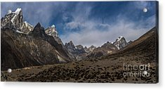 Acrylic Print featuring the photograph Thokla Pass Nepal by Mike Reid