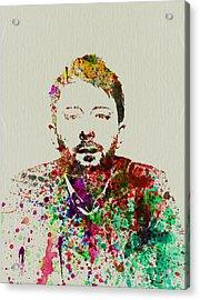 Thom Yorke Acrylic Print by Naxart Studio