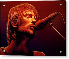 Thom Yorke Of Radiohead Acrylic Print by Paul Meijering