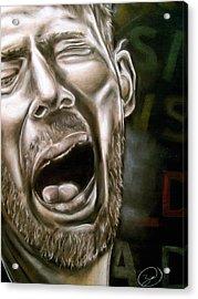 Thom Yorke Acrylic Print by Zach Zwagil