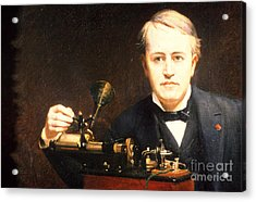 Thomas Edison, American Inventor Acrylic Print by Photo Researchers