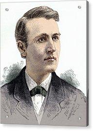 Thomas Edison, American Inventor Acrylic Print by Sheila Terry