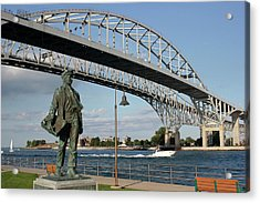Thomas Edison And Blue Water Bridge 1 Acrylic Print