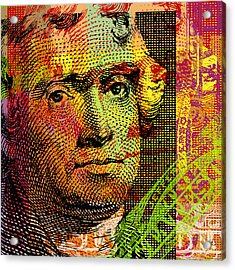 Thomas Jefferson - $2 Bill Acrylic Print