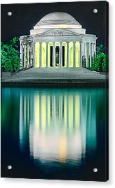 Thomas Jefferson Memorial At Night Acrylic Print
