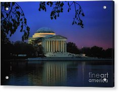 Thomas Jefferson Memorial Sunset Acrylic Print