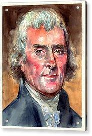 Thomas Jefferson Portrait Acrylic Print
