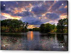 Thomas Lake Park In Eagan On A Glorious Summer Evening Acrylic Print