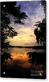 Acrylic Print featuring the photograph Thomas Lake Sunset 2 by Larry Ricker
