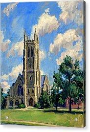 Thompson Chapel Williams College Acrylic Print