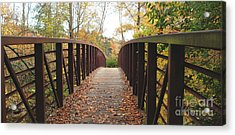 Thompson Park Bridge Stowe Vermont Acrylic Print
