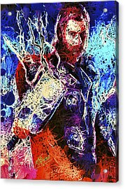 Acrylic Print featuring the mixed media Thor Charged Up by Matra Art