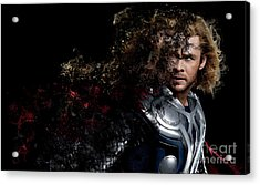 Thor - Chris Hemsworth Acrylic Print by Prar Kulasekara