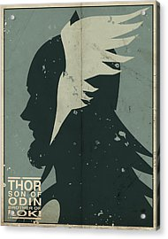 Thor Acrylic Print by Michael Myers