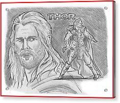 Thor Odinson Acrylic Print by Chris  DelVecchio