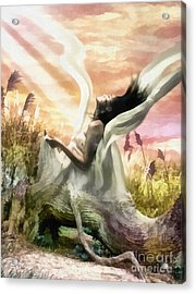 Thorn Acrylic Print by Mo T