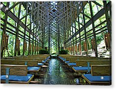 Acrylic Print featuring the photograph Thorncrown Chapel Interior by Cricket Hackmann