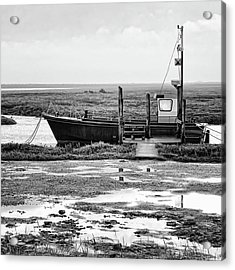 Thornham Harbour, North Norfolk Acrylic Print by John Edwards