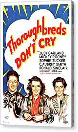 Thoroughbreds Don't Cry 1937 Acrylic Print