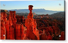 Thor's Hammer In Bryce Canyon At Sunrise Acrylic Print by Pierre Leclerc Photography