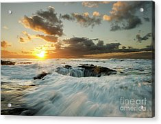 Thors Well Cape Perpetua 1 Acrylic Print by Bob Christopher