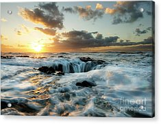 Thors Well Cape Perpetua 2 Acrylic Print by Bob Christopher