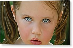 Those Eyes Acrylic Print by Elzire S