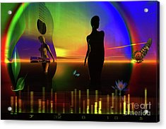 Acrylic Print featuring the digital art Thought Form by Shadowlea Is
