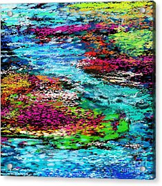 Thought Upon A Stream Acrylic Print by David Lane