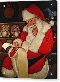 Thoughtful Santa Acrylic Print