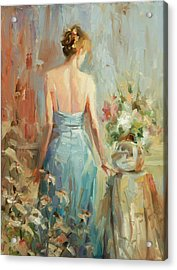 Acrylic Print featuring the painting Thoughtful by Steve Henderson