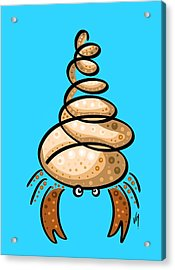 Thoughts And Colors Series Hermit Crab Acrylic Print