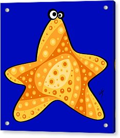 Thoughts And Colors Series Starfish Acrylic Print by Veronica Minozzi