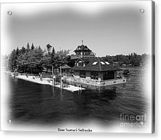 Thousand Islands In Black And White Acrylic Print