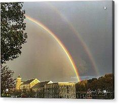 Thread City Double Rainbow  Acrylic Print