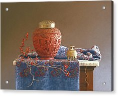 Thread To The Past Acrylic Print by Barbara Groff