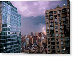 Acrylic Print featuring the photograph Threatening Storm - Manhattan - 2016 by Madeline Ellis