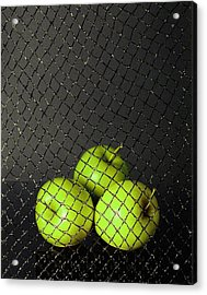 Acrylic Print featuring the photograph Three Apples by Viktor Savchenko