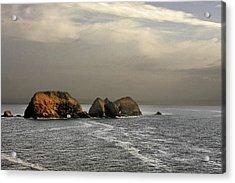 Three Arch Rocks - Oceanside Near Cape Meares - Oregon Acrylic Print by Christine Till