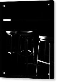 Three Barstool Sunrise Acrylic Print