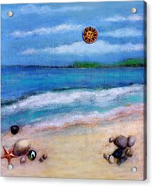 Three Beaches A Acrylic Print