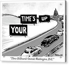 Three Billboards Outside Washington Dc Acrylic Print