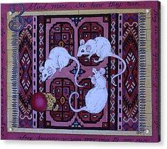 Three Blind Mice Acrylic Print by Victoria Heryet